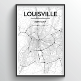 Louisville Map Art