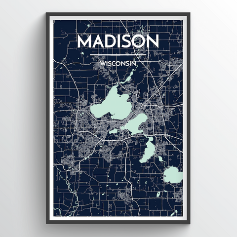 Affordable wholesale art prints of Madison - City Map Art Print