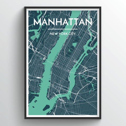 Affordable wholesale art prints of Manhattan - City Map Art Print