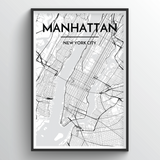 Manhattan Map Art