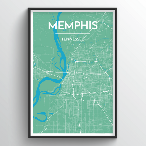Affordable wholesale art prints of Memphis - City Map Art Print