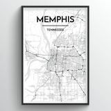 Memphis Map Art
