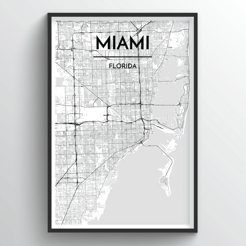 Miami Map Art
