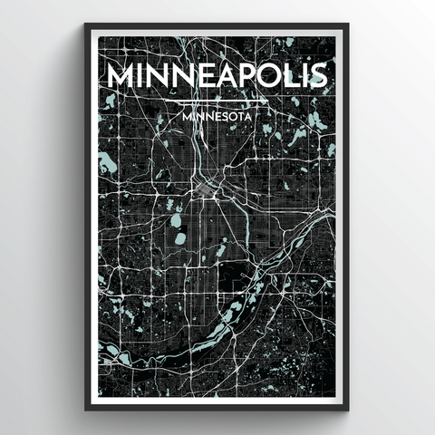 Affordable wholesale art prints of Minneapolis - City Map Art Print