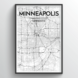Minneapolis Map Art
