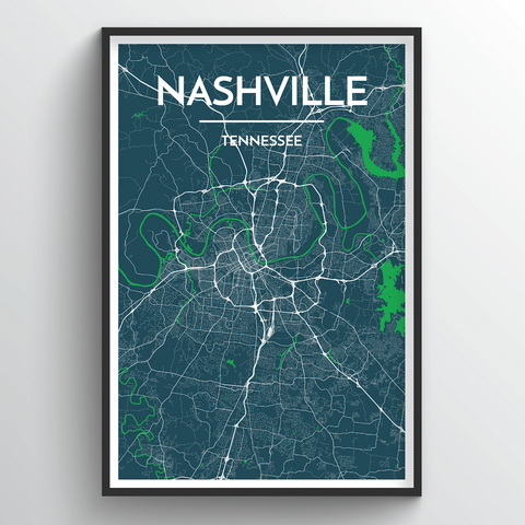 Affordable wholesale art prints of Nashville - City Map Art Print