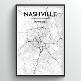 Nashville Map Art