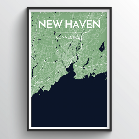 Affordable wholesale art prints of New Haven - City Map Art Print