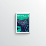 New Orleans Map Art