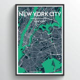 Affordable wholesale art prints of New York - City Map Art Print