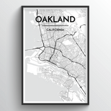 Oakland Map Art