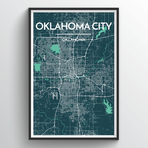 Affordable wholesale art prints of Oklahoma - City Map Art Print