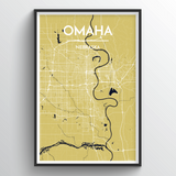 Affordable wholesale art prints of Omaha - City Map Art Print