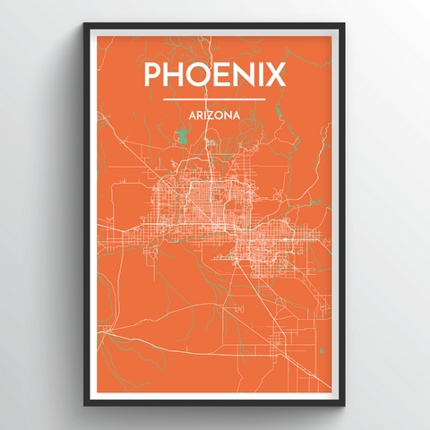 Affordable wholesale art prints of Phoenix - City Map Art Print