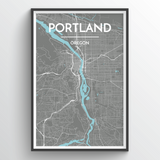 Portland - Oregon Map Art
