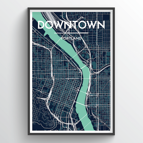 Affordable wholesale art prints of Portland - Oregon Neighborhoods - City Map Art Print
