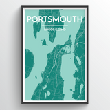 Affordable wholesale art prints of Portsmouth - City Map Art Print
