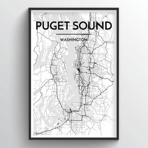 Puget Sound Map Art