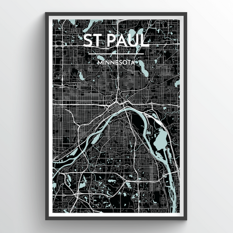 Affordable wholesale art prints of Saint Paul - City Map Art Print