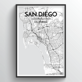San Diego Map Art