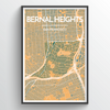 "Bernal Heights / 13x19"" / Color"