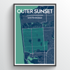 "Outer Sunset / 13x19"" / Color"