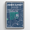 "Inner Sunset / 13x19"" / Color"