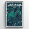 "Haight-Ashbury / 13x19"" / Color"