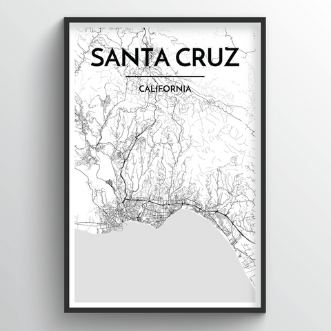 Santa Cruz Map Art