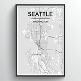 Seattle Map Art