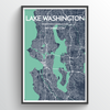 Lake Washington / 13x19""