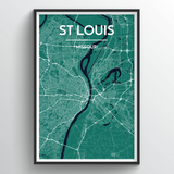 Affordable wholesale art prints of St Louis - City Map Art Print