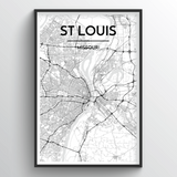St Louis Map Art
