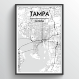 Tampa Map Art