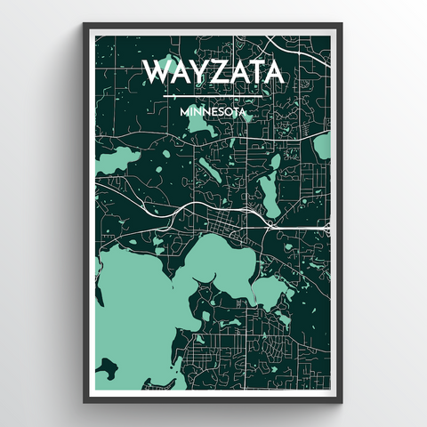 Affordable wholesale art prints of Wyzata - City Map Art Print