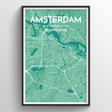 Affordable wholesale art prints of Amsterdam - City Map Art Print