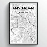 Amsterdam Map Art