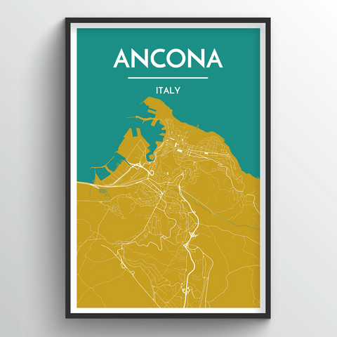Affordable wholesale art prints of Ancona - City Map Art Print
