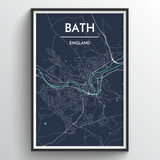Affordable wholesale art prints of Bath - City Map Art Print