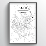 Bath Map Art