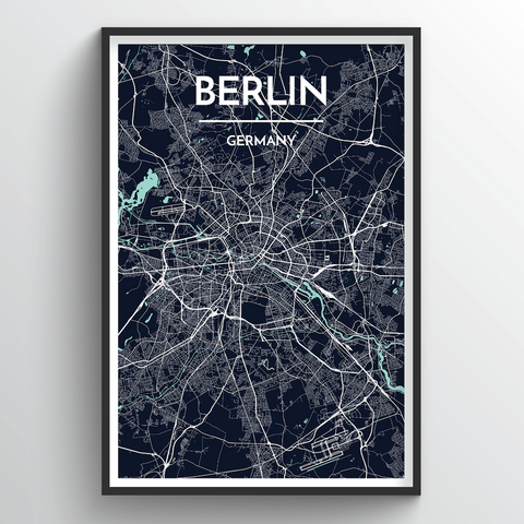 Affordable wholesale art prints of Berlin - City Map Art Print