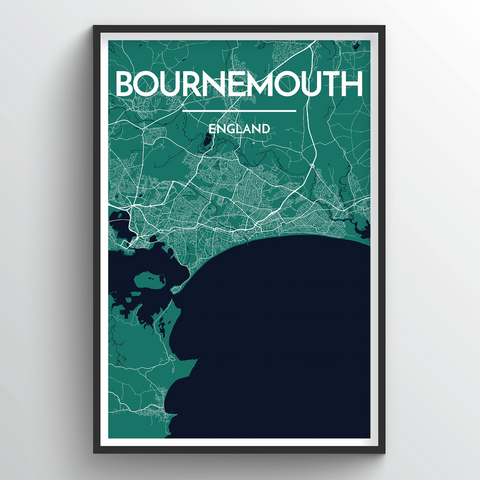 Affordable wholesale art prints of Bournemouth - City Map Art Print