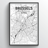 Brussels Map Art