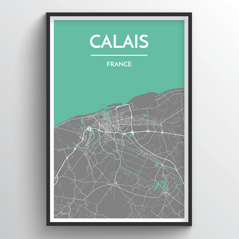 Affordable wholesale art prints of Calais - City Map Art Print