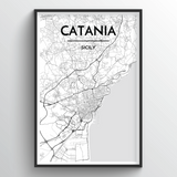 Catania Map Art