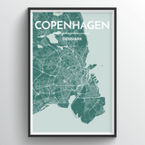 Affordable wholesale art prints of Copenhagen - City Map Art Print