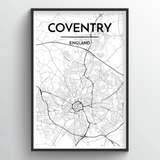 Coventry Map Art