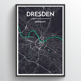 Affordable wholesale art prints of Dresden - City Map Art Print