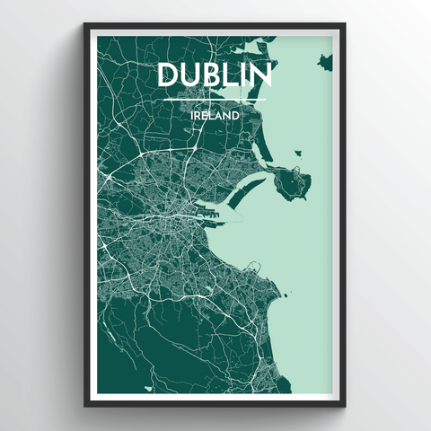 Affordable wholesale art prints of Dublin - City Map Art Print