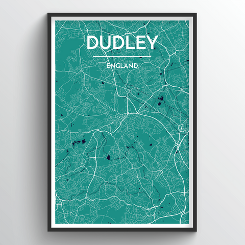 Affordable wholesale art prints of Dudley - City Map Art Print